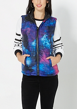 Galaxy Quilted Puffer Vest
