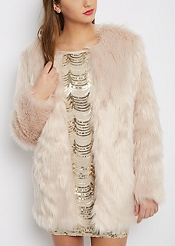 Pink Diva Faux Fur Coat