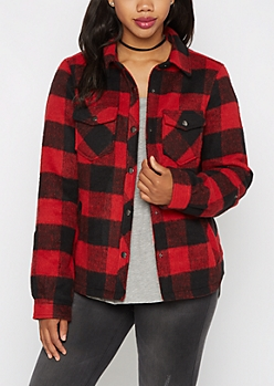Buffalo Plaid Wool Jacket