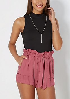 Sleeveless Mock Neck Soft Brushed Top