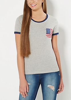 Patriotic Pocket Ringer Tee