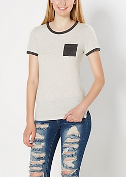 Heathered Gray Pocket Tee
