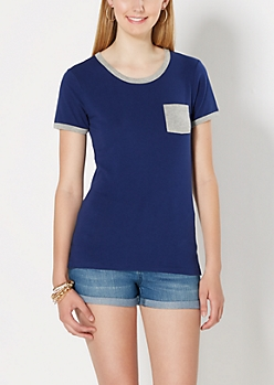 Blue Mini Pocket Tee