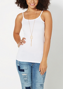 Essential Brushed White Cami