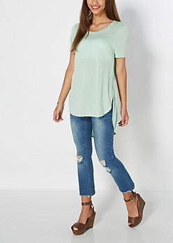 Mint Split Seam Tunic Top