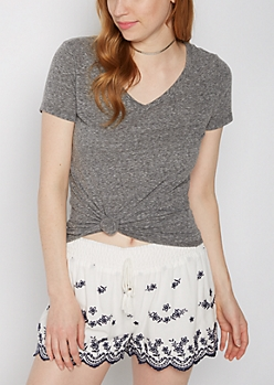 Heather Gray V-Neck Favorite Tee