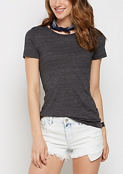 Heathered Charcoal Crew Neck Favorite Tee