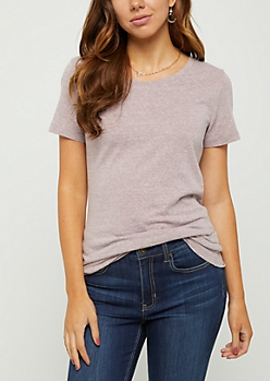 Heathered Lavender Crew Neck Favorite Tee