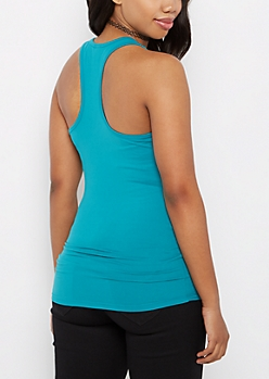 Teal Racerback Soft Brushed Knit Tank