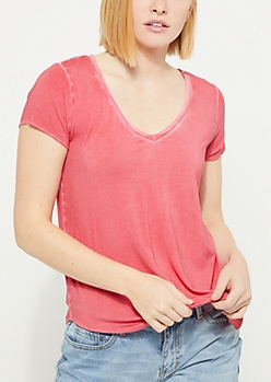 Red Vintage Washed Tee