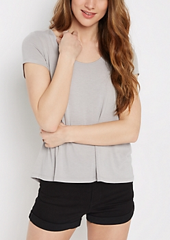 Gray Relaxed Tee