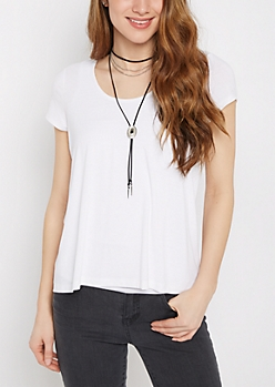 White Relaxed Tee
