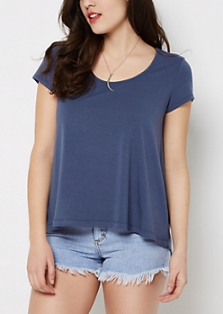 Dark Blue Relaxed Tee