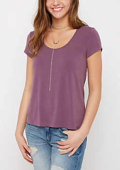 Purple Relaxed Tee