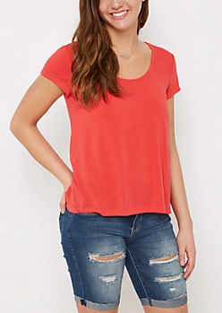 Red Relaxed Tee