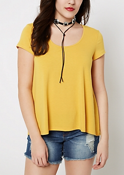 Mustard Relaxed Tee
