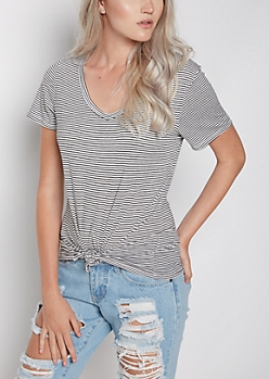 Striped V-Neck Favorite Tee