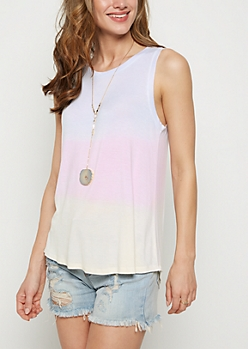 Multi Colored Dip Dye Tank Top