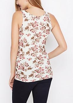 Minty Rose Soft Knit Tank Top