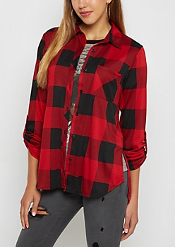 Red Buffalo Check Pocket Shirt