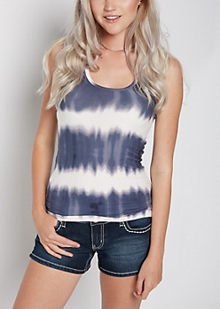 Tie Dye Soft Knit Racerback Tank Top