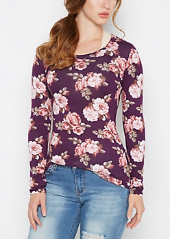 Plum Rosy Long Sleeve Shirt
