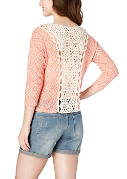 Crochet Pink Diamond Top