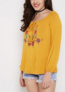 Daisy Embroidered Blouse