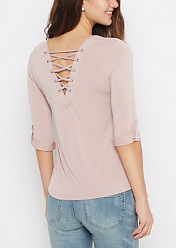 Light Purple Lattice Back Shirt