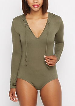 Olive Hooded Bodysuit