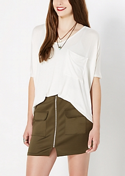 Ivory Slouchy Top
