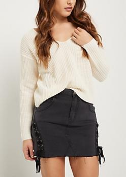 Ivory Boxy Knit Sweater