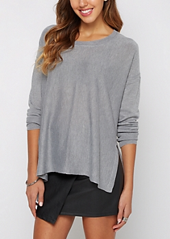 Ivory Exposed Seam Sweater