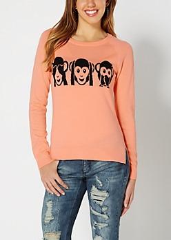 See No Evil Monkey Raglan Sweater