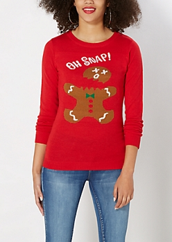 Oh Snap! Gingerbread Man Sweater