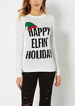 Happy Elfin' Holiday Ugly Sweater