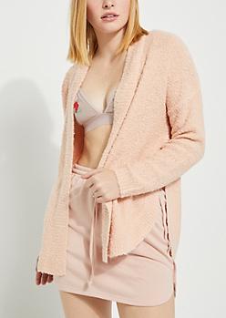 Light Pink Soft Knit Cardigan
