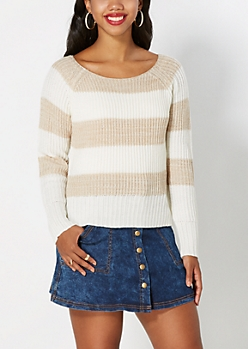 Tan Rugby Striped Sweater
