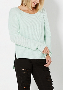 Light Green Thick Knit Sweater