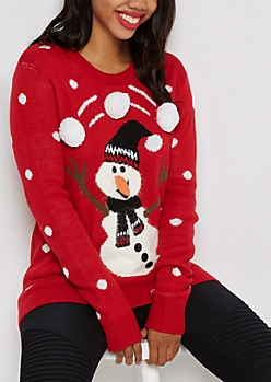 Juggling Snowman Ugly Christmas Sweater