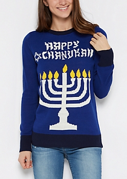Happy Chanukah Light Up Sweater