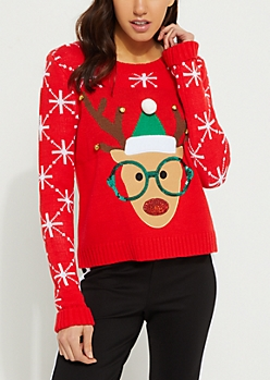 Nerd Reindeer Sweater