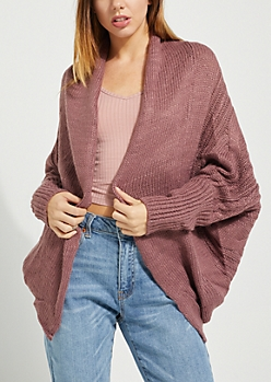 Pink Cable Knit Sweater Shrug