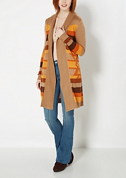 Aztec Striped Duster