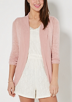 Light Pink Slub Cocoon Wrap