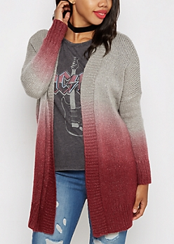 Burgundy Ombre Duster Cardi