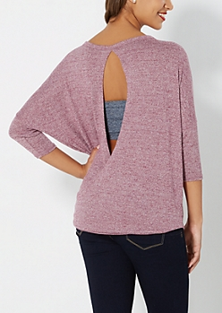Ruby Surplice Back Sweater