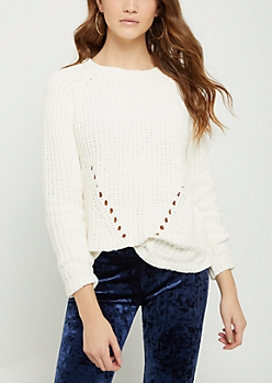 Ivory Chenille Knit Sweater