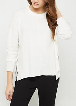 Ivory Side Zip Sweater