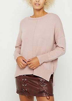 Pink Side Zip Sweater